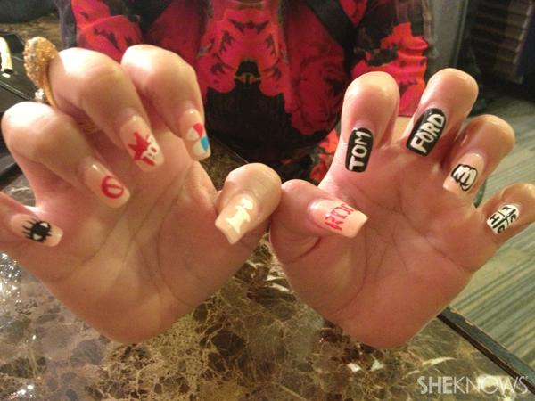 Adrienne Bailon's nails