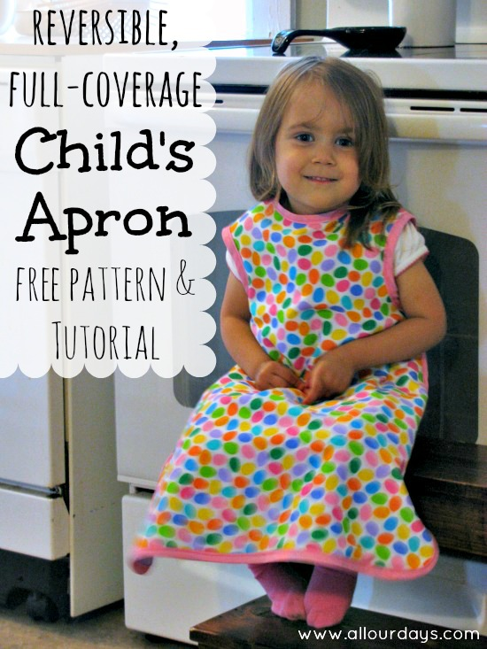 Full-coverage, reversible apron
