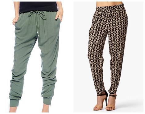 90s fashion- Harem pants