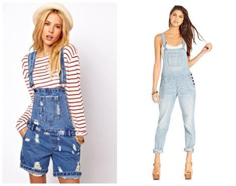 90s fashion: overalls