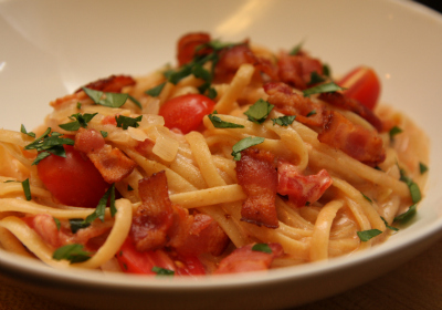 It's a Keeper, BLT- bacon linguini and tomato pasta