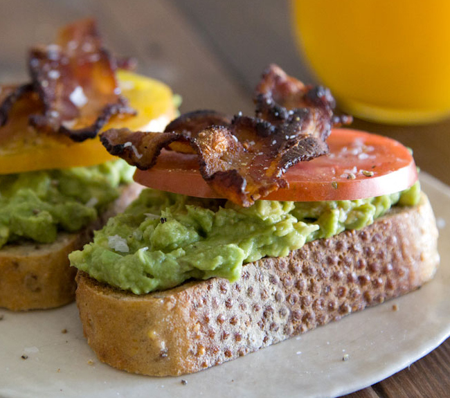 What's cooking Gabby, Avocado, Bacon and Tomato Toast,