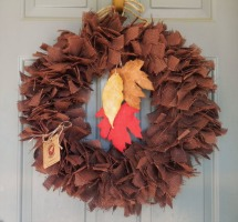 RedRobynLane Burlap wreath