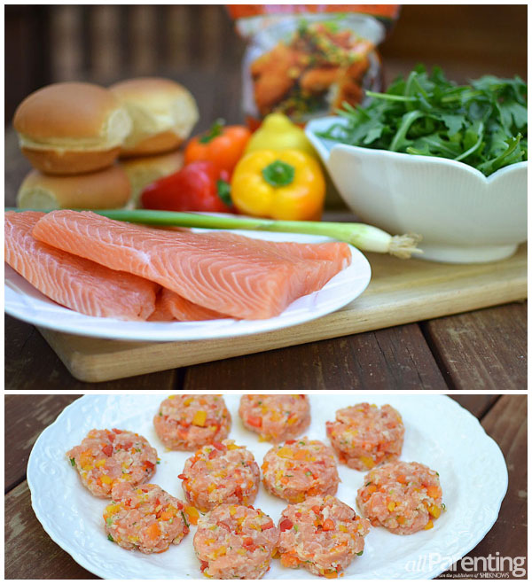 allParenting Salmon sliders with baby arugula
