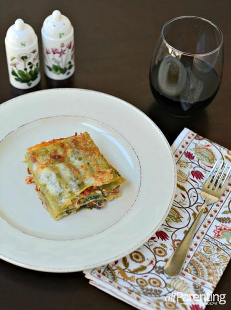 allParenting Spinach and mushroom lasagna