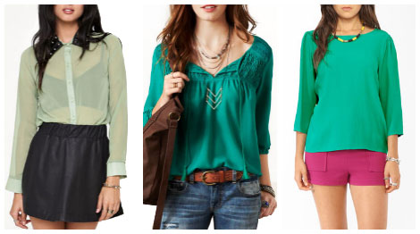 Trends: Anything green shirts collage