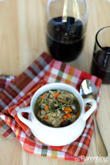 allParenting mushroom barley soup