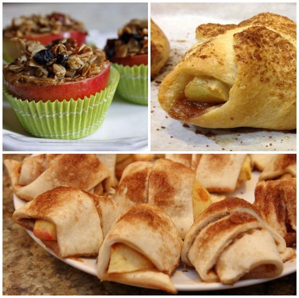 Blogger apple recipes- bite sized treats collage