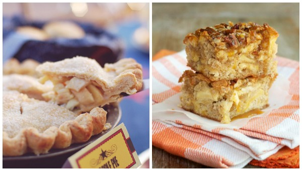 Blogger apple recipes- cakes bars pies collage 2