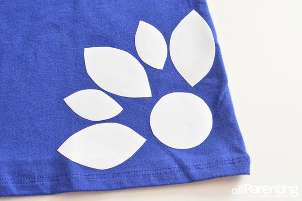 bleach-dyed t-shirt step 3
