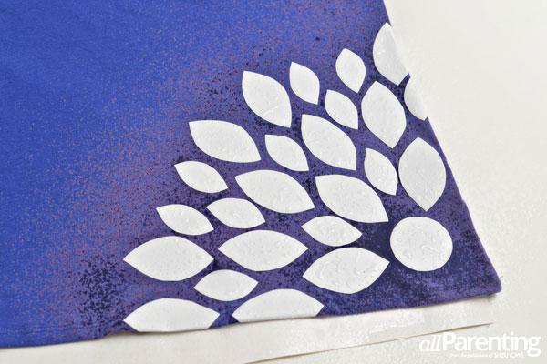 bleach-dyed t-shirt step 8