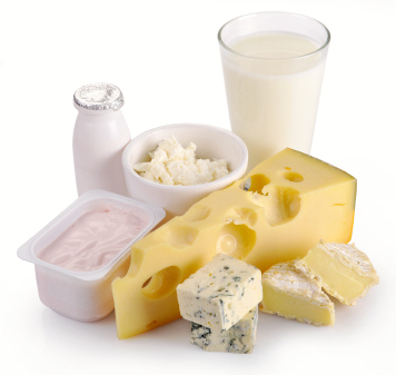 collection of dairy products