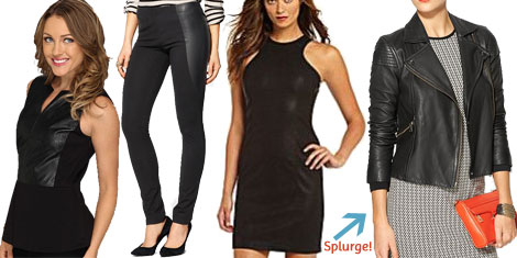 Fall trendy leather- 30s