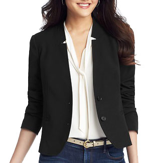 LOFT Custom Stretch Notched Collar Blazer
