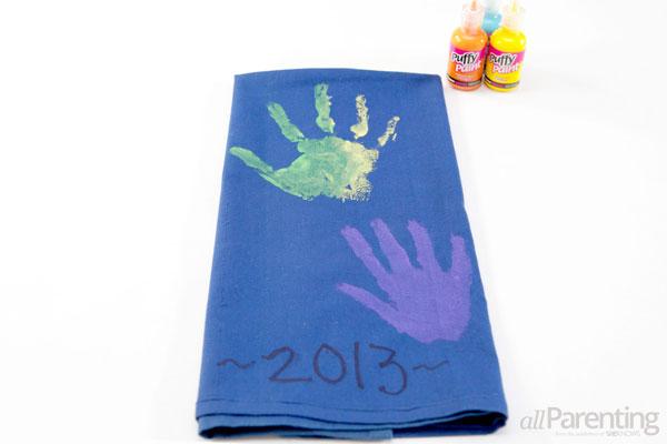 Grandparents day gifts- Handprint tea towel