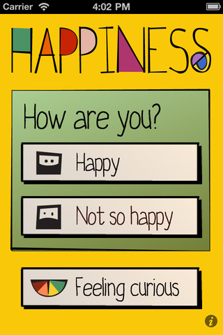 Happiness mood tracking journal app