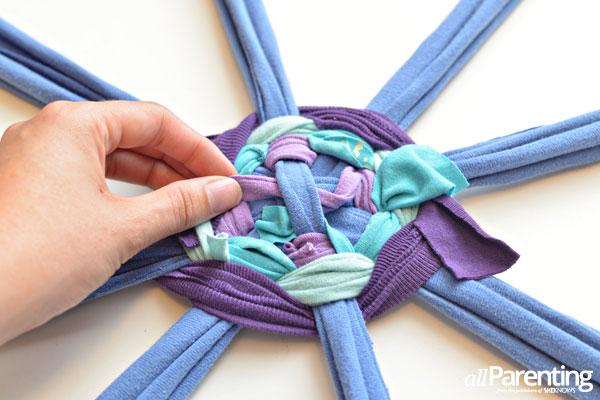 Hula hoop rug step 7
