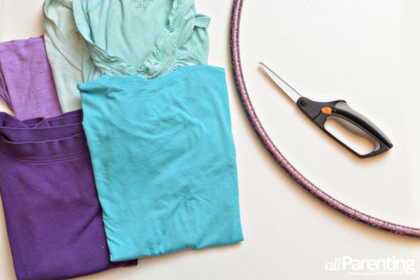 Hula hoop rug materials