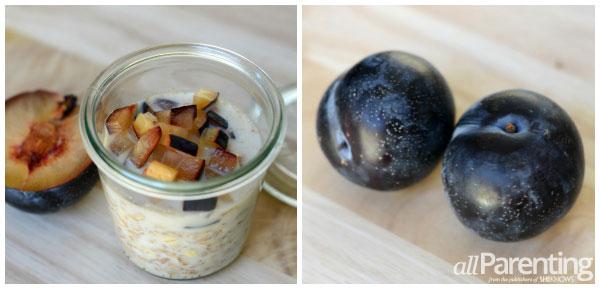 Vanilla plum overnight oatmeal