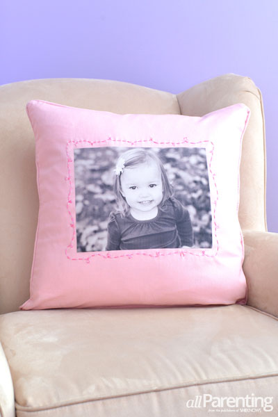 allParenting DIY photo pillow