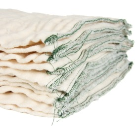 stack of prefold cloth diapers