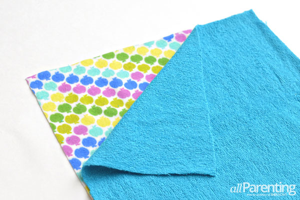 Re-usable paper towel tutorial step 5