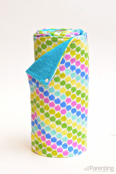 allParenting Re-usable paper towel tutorial