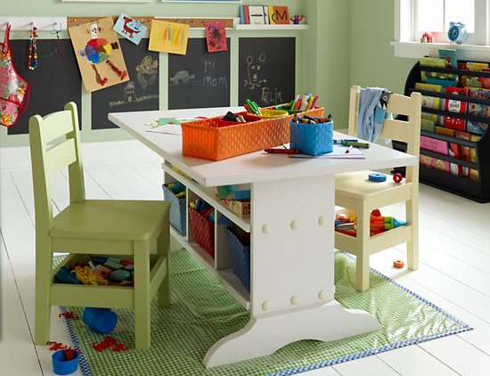 Land of Nod study table and room