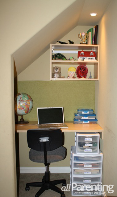 Homework area- UNder the stairs Monica Friel