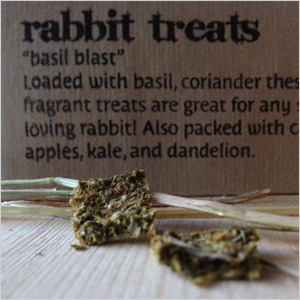 Basil blast rabbit treats