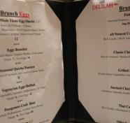 Cafe Delilah's menu