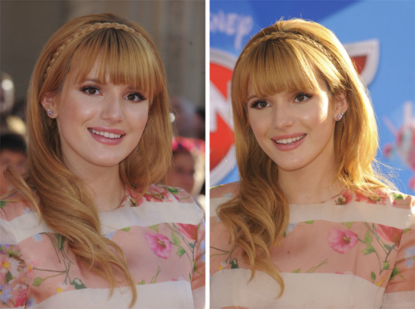 Bella Thorne's braided headband