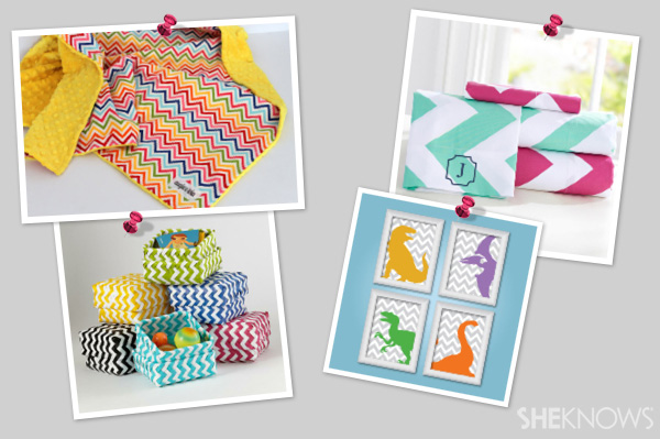 Bright & bold chevron decor for a kid's room | SheKnows.com