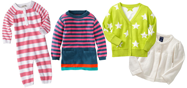 Cozy fall sweaters for baby girls