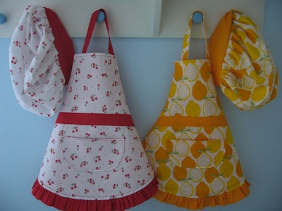 DIY aprons and chef hats