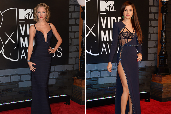 Selena Gomez and Taylor Swift at the 2013 MTV VMAs