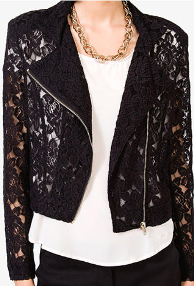 Lovely lace jacket from Forever 21