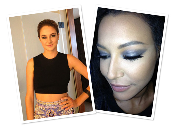 Naya Rivera's and Shailene Woodley's MTV VMAs makeup