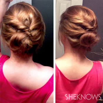 Fun updo with Topsy Tail