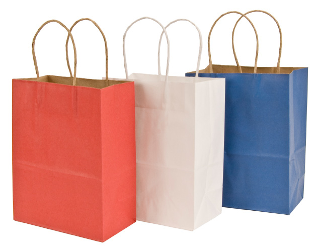 Patriotic shopping bags