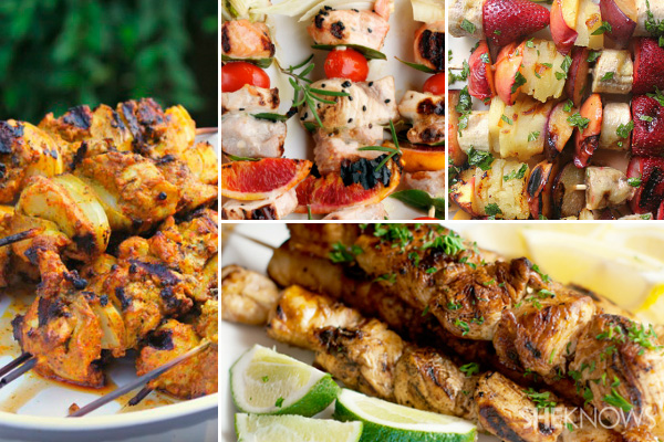 10 Fun kebab recipes for the grill