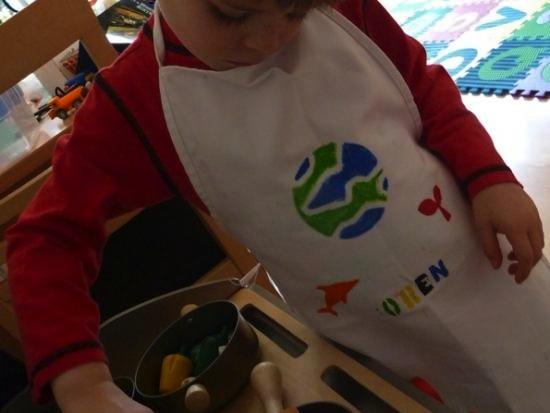 DIY stencil apron