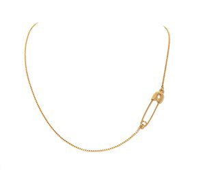 Kristin Cavallari safety pin necklace