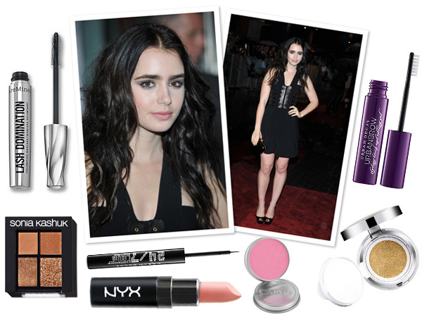 Makeup profile: Lily Collins -- Smokey sister look