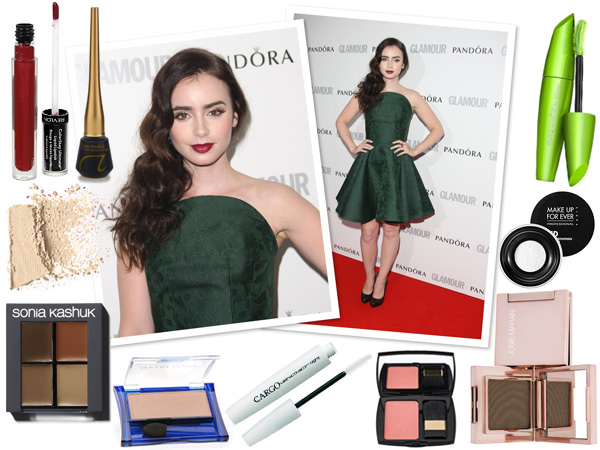 Makeup profile: Lily Collins -- Glittery gal look