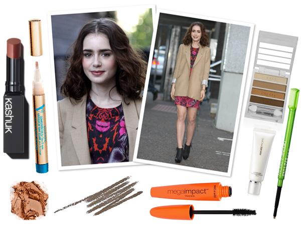 Makeup profile: Lily Collins -- Fresh faced femme look