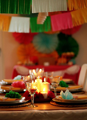 Mexican dinner table