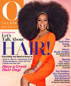 Oprah embraces big hair