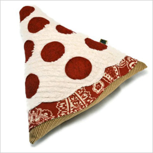 Pizza-shaped dog toy