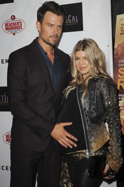 Pregnant Fergie and Josh Duhamel